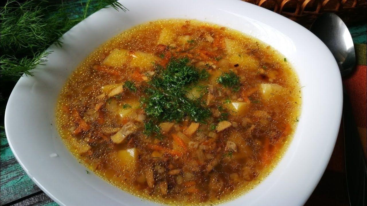 Гречневый суп с грибами-великолепный вкус!